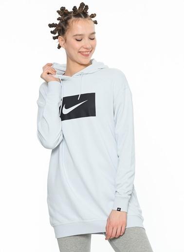 Kapüşonlu Uzun Sweatshirt-Nike